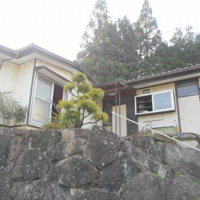 【売買】128万円 岐阜県恵那市中野方町 高台からの山景色が眺められる 庭付き平屋